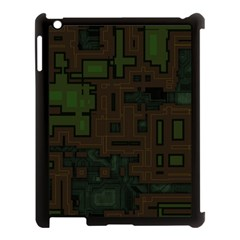 Circuit Board A Completely Seamless Background Design Apple iPad 3/4 Case (Black)