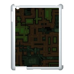 Circuit Board A Completely Seamless Background Design Apple iPad 3/4 Case (White)