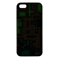 Circuit Board A Completely Seamless Background Design Apple iPhone 5 Premium Hardshell Case