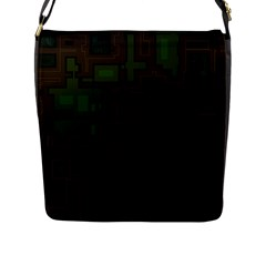 Circuit Board A Completely Seamless Background Design Flap Messenger Bag (l)