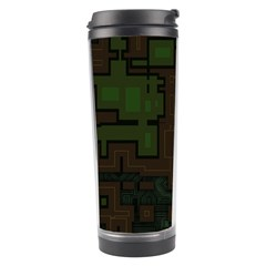 Circuit Board A Completely Seamless Background Design Travel Tumbler