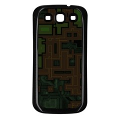 Circuit Board A Completely Seamless Background Design Samsung Galaxy S3 Back Case (Black)