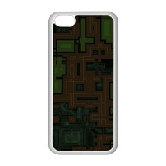 Circuit Board A Completely Seamless Background Design Apple iPhone 5C Seamless Case (White)