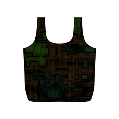 Circuit Board A Completely Seamless Background Design Full Print Recycle Bags (s)