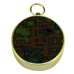 Circuit Board A Completely Seamless Background Design Gold Compasses