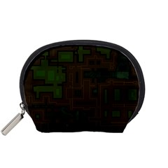 Circuit Board A Completely Seamless Background Design Accessory Pouches (Small)
