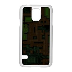 Circuit Board A Completely Seamless Background Design Samsung Galaxy S5 Case (White)