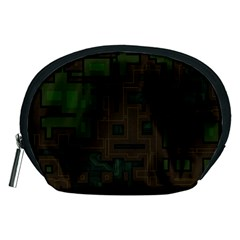 Circuit Board A Completely Seamless Background Design Accessory Pouches (Medium)