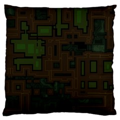 Circuit Board A Completely Seamless Background Design Standard Flano Cushion Case (Two Sides)
