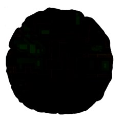 Circuit Board A Completely Seamless Background Design Large 18  Premium Flano Round Cushions