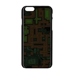 Circuit Board A Completely Seamless Background Design Apple iPhone 6/6S Black Enamel Case