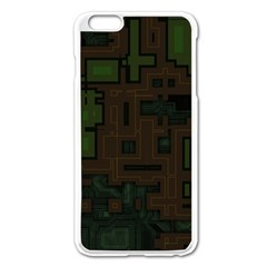 Circuit Board A Completely Seamless Background Design Apple iPhone 6 Plus/6S Plus Enamel White Case