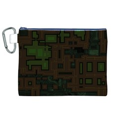Circuit Board A Completely Seamless Background Design Canvas Cosmetic Bag (XL)