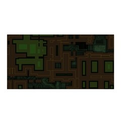 Circuit Board A Completely Seamless Background Design Satin Wrap