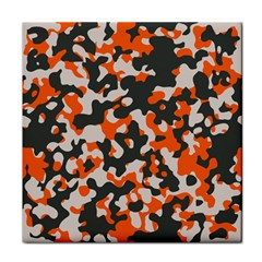Camouflage Texture Patterns Tile Coasters
