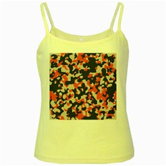 Camouflage Texture Patterns Yellow Spaghetti Tank