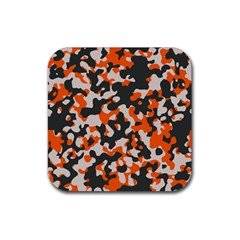 Camouflage Texture Patterns Rubber Square Coaster (4 Pack)