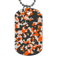 Camouflage Texture Patterns Dog Tag (two Sides)