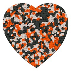 Camouflage Texture Patterns Jigsaw Puzzle (Heart)