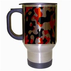 Camouflage Texture Patterns Travel Mug (silver Gray)