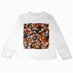 Camouflage Texture Patterns Kids Long Sleeve T-Shirts