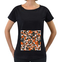 Camouflage Texture Patterns Women s Loose Fit T Shirt (black)