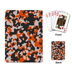 Camouflage Texture Patterns Playing Card