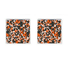 Camouflage Texture Patterns Cufflinks (square)