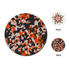 Camouflage Texture Patterns Playing Cards (round)