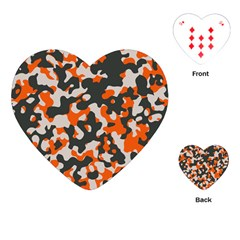 Camouflage Texture Patterns Playing Cards (heart)