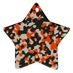 Camouflage Texture Patterns Star Ornament (two Sides)