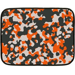 Camouflage Texture Patterns Double Sided Fleece Blanket (mini)