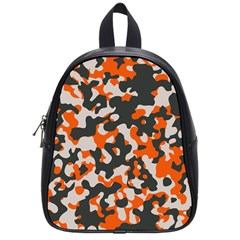 Camouflage Texture Patterns School Bags (small)