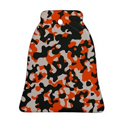 Camouflage Texture Patterns Bell Ornament (two Sides)