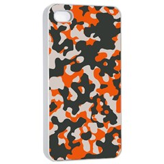 Camouflage Texture Patterns Apple Iphone 4/4s Seamless Case (white)