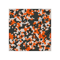 Camouflage Texture Patterns Acrylic Tangram Puzzle (4  X 4 )