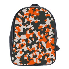 Camouflage Texture Patterns School Bags (XL)
