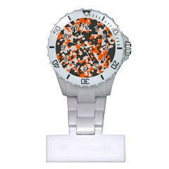 Camouflage Texture Patterns Plastic Nurses Watch