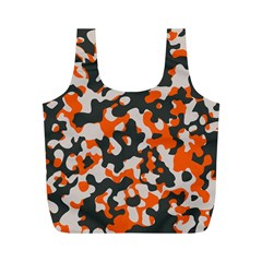 Camouflage Texture Patterns Full Print Recycle Bags (M)