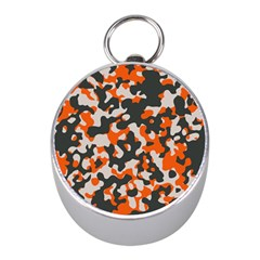 Camouflage Texture Patterns Mini Silver Compasses