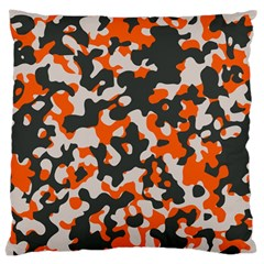 Camouflage Texture Patterns Large Flano Cushion Case (Two Sides)
