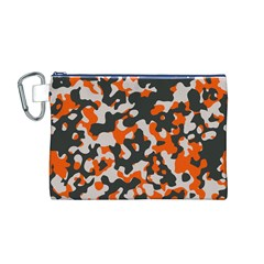 Camouflage Texture Patterns Canvas Cosmetic Bag (M)