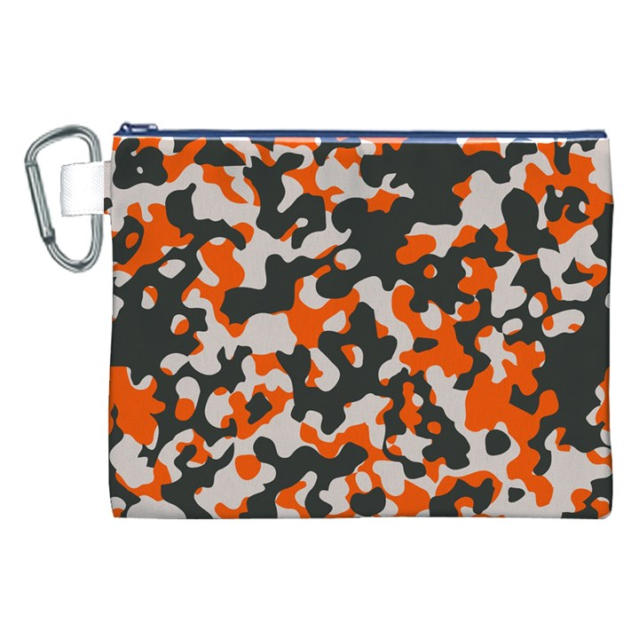 Camouflage Texture Patterns Canvas Cosmetic Bag (XXL)