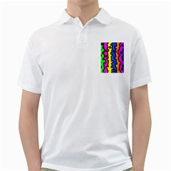 Digitally Created Abstract Squiggle Stripes Golf Shirts