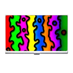 Digitally Created Abstract Squiggle Stripes Business Card Holders