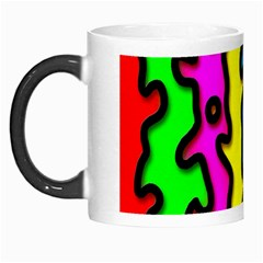 Digitally Created Abstract Squiggle Stripes Morph Mugs