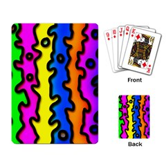 Digitally Created Abstract Squiggle Stripes Playing Card