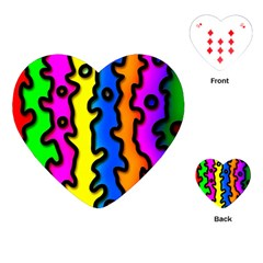 Digitally Created Abstract Squiggle Stripes Playing Cards (Heart)