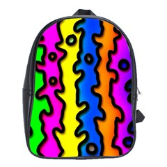 Digitally Created Abstract Squiggle Stripes School Bags(large)