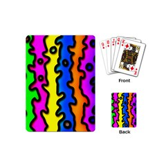 Digitally Created Abstract Squiggle Stripes Playing Cards (mini)